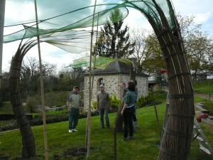 patrice Lebreton. oeuvre au jardin Camifolia à Chemillé (49)